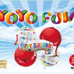 """סט 5 בלונים """"Happy Birthday"""""""